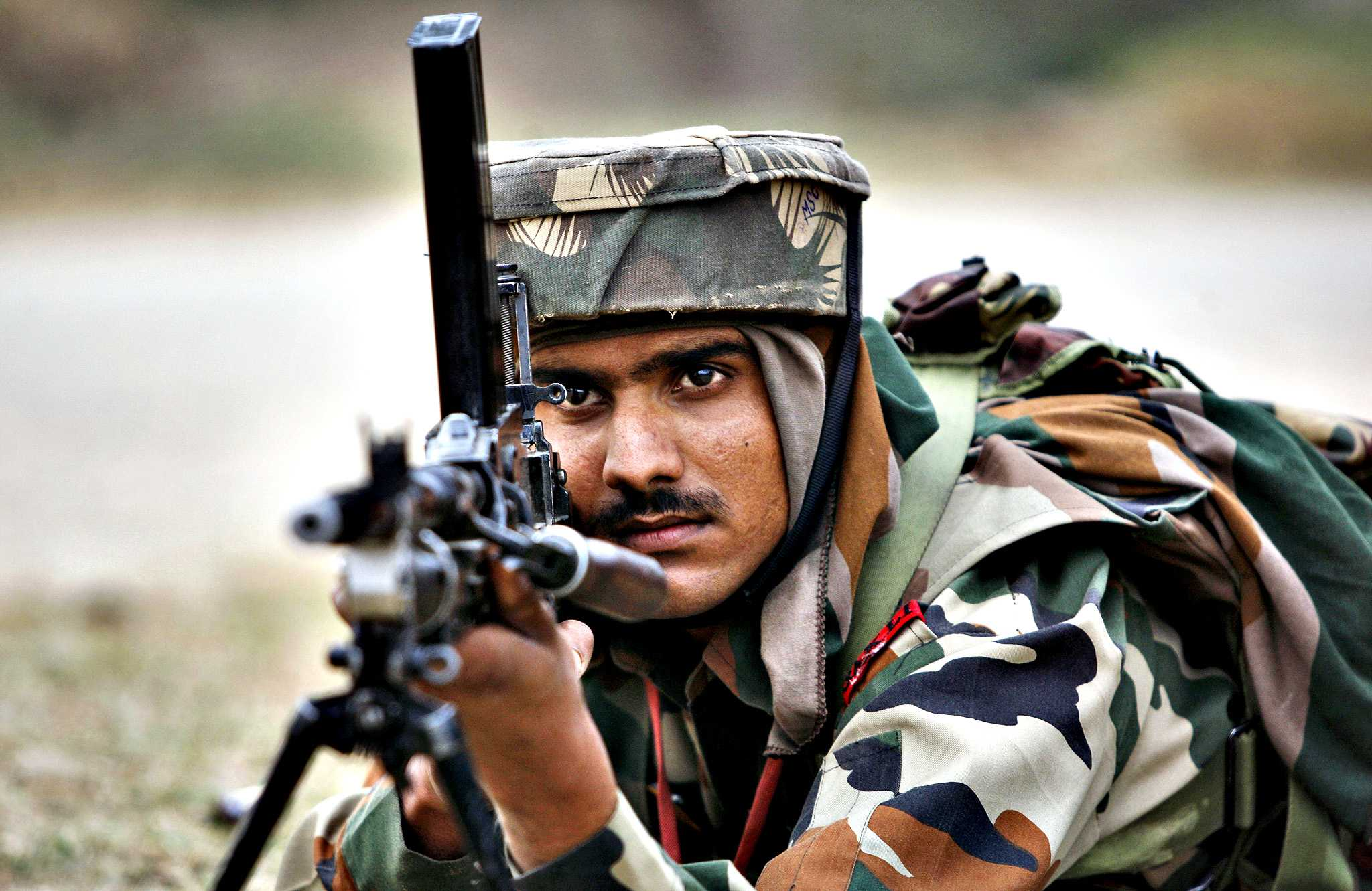 An Indian Army soldier
