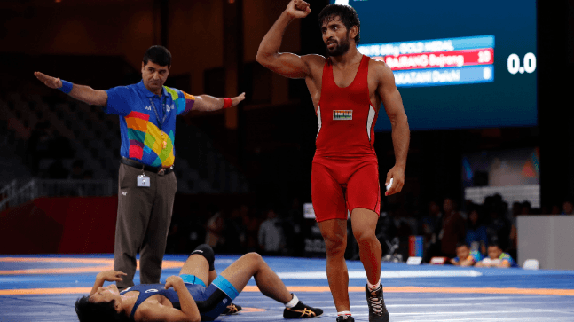 बजरंगाची कमाल | Asian games 2018 Wrestling Competition Win Bajrang Punia