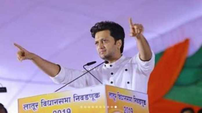 रितेश देशमुख | Ritesh Deshmukh proposes Marathi man's opinion after the imposition of President's rule